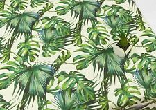 Green Botanical leaf 100% Cotton Fabric / big leaves plant digital print JC9/15*