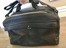 NWT Jerome Dreyfuss Dark Brown Moka Lambskin Leather Raoul Bag $750