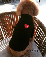 Various Pet Red Love Heart Puppy Small Dog Cat Pet Clothes T Shirt Tee