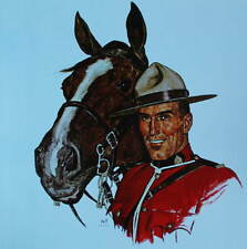 Canadian Mountie RCMP with Horse head by Arnold Friberg