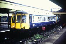 1/50 Single DMC Diesel loco in a Station Kodachrome Slide