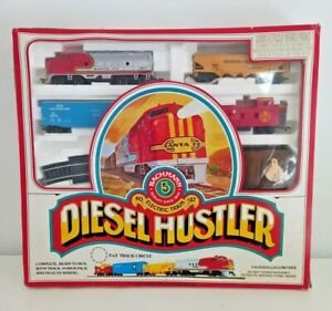 Vintage Bachmann Diesel Hustler HO Scale Electric Train Set Model 00101 Santa Fe