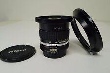 Nikon 18mm f3.5 AiS Wide Angle Lens w/HK-9 Hood f/ Film & Digital SLR  NICE!