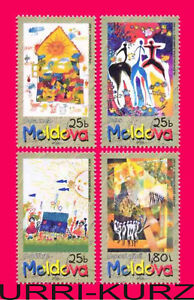 MOLDOVA 2001 Art Painting Children's Drawings International Child Day 4v MNH