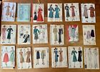 Lot of 18 Vtg 1930's 40s 50s Sewing Patterns Vogue Simplicity McCalls & More