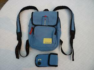 Vintage Diesel Spare Parts Light Blue Mini Backpack Purse Bag + Phone/iPod Case