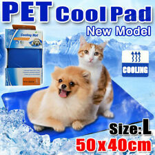 Pet Dog Cat Bed Non-Toxic Cooling Cool Water Cooling Gel Mat Summer Pad 50x40cm