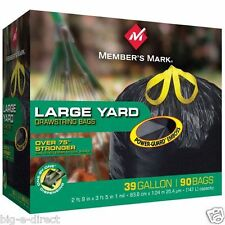 Member's Mark 39 Gallon Power-Guard Yard Drawstring Garbage Trash Bags (90 ct.)