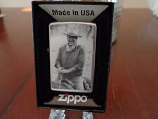 JOHN WAYNE RIDING THE TRAIL IN THE SADDLE ZIPPO LIGHTER MINT IN BOX