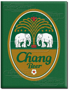 CHANG THAI BEER Metal wall sign/poster retro advert/print for pub, bar, man cave