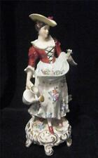 Period Dress Flower Girl Figurine  marked S with Crown Mark