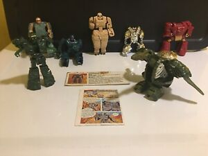 Transformers 1985 BANDAI ROCK LORDS LOT OF 8 FIGURES ! Nugget Stone heart