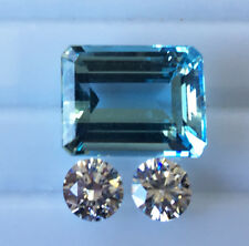 AQUAMARINE NATURAL COLOUR 13.19ct!! -EXPERTLY FACETED +CERTIFICATE INCLUDED