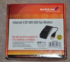 StarTech external V.92 56K usb fax modem new USB56KEM2