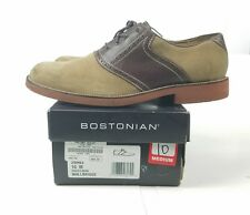 """Bostonian Men's """"Wallbridge"""" 26982 Sand Suede Brown Smooth Casual Shoes 10M"""