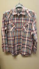 Pendleton Men's Long Sleeve Button Front Classic-Fit Frontier Shirt Large