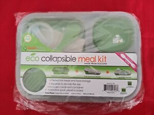 Smart Planet EC-34 Large 3-Compartment Eco Silicone Collapsible Meal Kit Lunch B