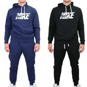 Nike Mens Joggers Hoody Hoodies Air Fleece Full Tracksuit Top Bottoms Sweatshirt