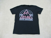 ACDC Shirt Adult Large Black Red Rock Brigade Concert Tour Rock Music Mens
