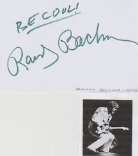 Randy Bachman signed card!  The Guess Who & BTO Guitarist!