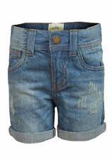 Shorts bleu pour fille de 2 à 16 ans en 100% coton