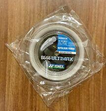 Yonex BG66 Ultimax Badminton String - Full 656ft 200m Reel. BG 66 White, New
