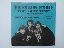 The Rolling Stones The Last Time / Play With Fire Picture Sleeve PS 45 VG 7""