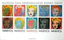 POP ART POSTER WARHOL MUSEUM VAN HEDENDAAGSE WITH 10 MARILYNS
