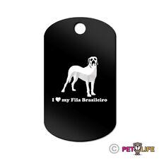 I Love My Fila Brasileiro Engraved Keychain Gi Tag dog Many Colors