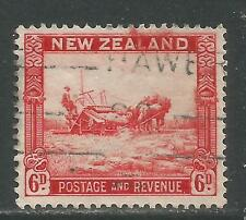 New Zealand 1935 Wheat Harvesting 6p red (193) fine used
