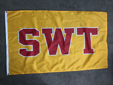 Single Sided Southwest Texas State Flag Swt Swtsu - Bobcats banner Sign Poster