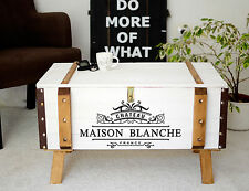 Shabby Chic Vintage Frachtkiste Holzkiste Truhe Couchtisch France Coffeetable
