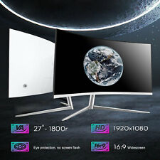 """24"""" 27"""" 32"""" Zoll Curved LCD Gaming Monitor PC Full HD 1920x1080p 16:9 75HZ HDMI"""