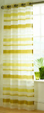 """Set of 2  Como Lime Eyelet Voile Panels 55"""" x 54"""" , simply stunning"""