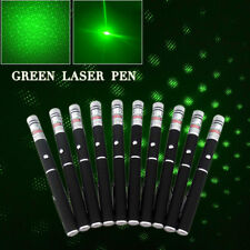 10Pc 2in1 Powerful 5mw Ray 532nm Green Laser Pointer Pen Beam Lazer+ Star Cap Us