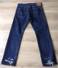 LEVI'S 501 XX JEANS BIG E REDLINE SELVEDGE SIZE 34 X 32 DAMAGED SEE DESCRIPTION