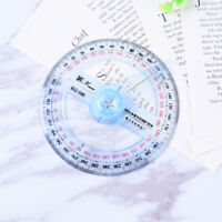 Plastic 360 Degree Protractor Ruler Angle Finder Swing Arm School Office ^P