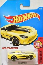 HOT WHEELS 2017 THEN AND NOW 2013 SRT VIPER #10/10 YELLOW