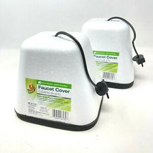 2x Duck Outdoor Faucet Cover Outside Cold Weather Freeze Winter Protection Foam