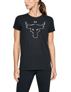 2016 UNDER ARMOUR® PROJECT ROCK WOMEN'S SMALL BRAHMA BULL CHARGED COTTON® TEE