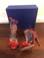 Aquazzura Red Pon Pon Sandal 105 Size 38