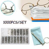 Schrauben Schraubgewinde für Gläser Brille Sonnenbrille Reparaturwerkzeug Kit