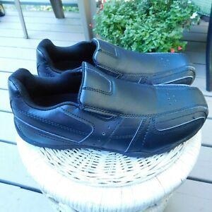 Safe T Step, Men's 7.5 Black Slip-On Work Loafers, Oil & Slip Resistant EUC!