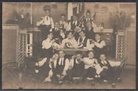 43821) Echt Foto AK Studentika Meiningen ca. 1910