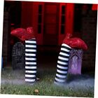 2 Pieces Halloween Wicked Witch Legs with Stakes, Halloween Witch Prop