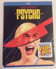 Psycho (Blu-ray Disc 2016) w/ OOP Pop-Art Slipcover Alfred Hitchcock Janet Leigh