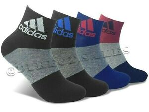 3/6 Pairs Adidas Mens Womens Ankle Trainer Socks Cotton Quarter Sports Socks Lot