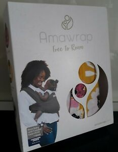 BNIB AMAWRAP BABY SLING BABY CARRIER FREE TO ROAM 3.5 - 15KG FLORAL PATTERN