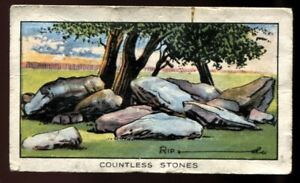 Tobacco Card,Carreras,RIPLEY BELIEVE IT OR NOT,1934,Countless Stones Aylesford,2