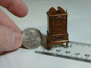 1990 John Davenport Dollhouse Furniture Miniature Highboy Dresser Artisan 1:48